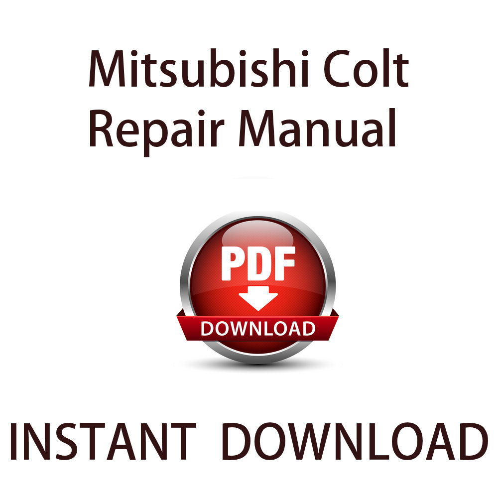 mitsubishi colt workshop manual pdf