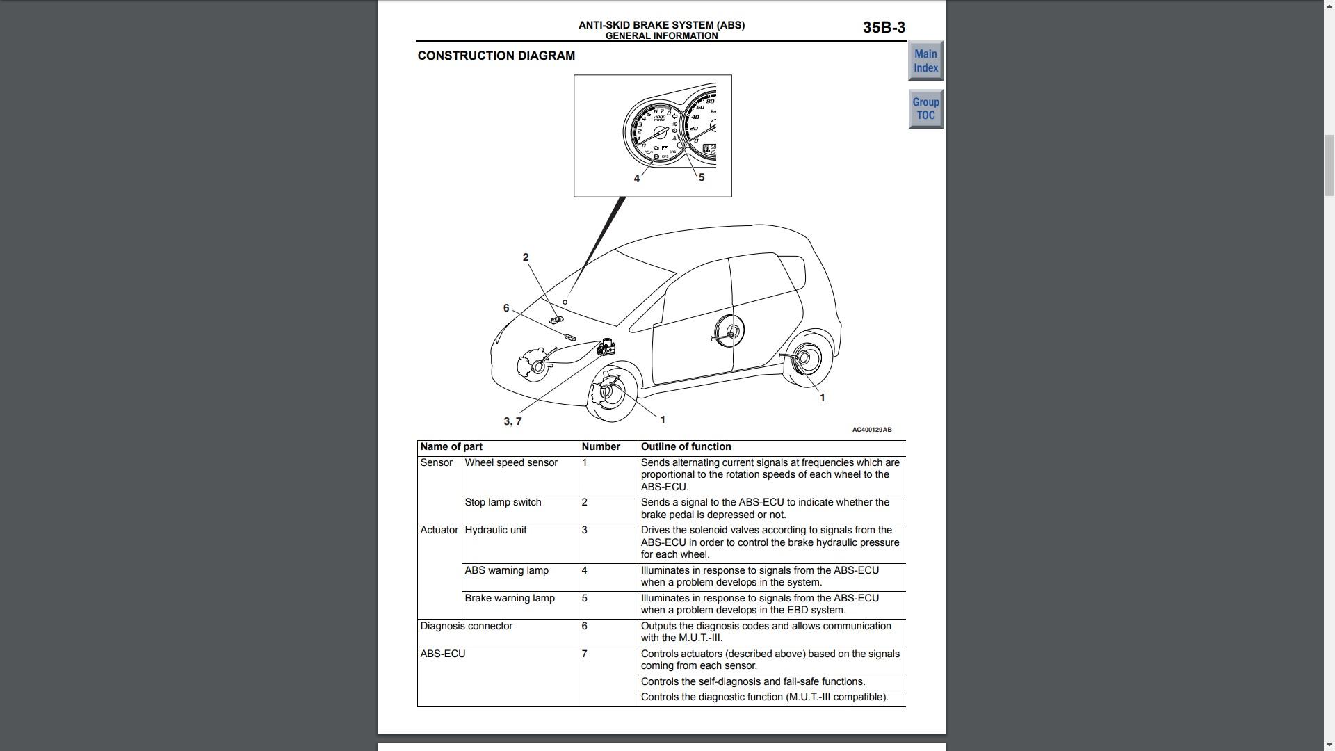 Mitsubishi Colt Repair Manual Screen Grag 1
