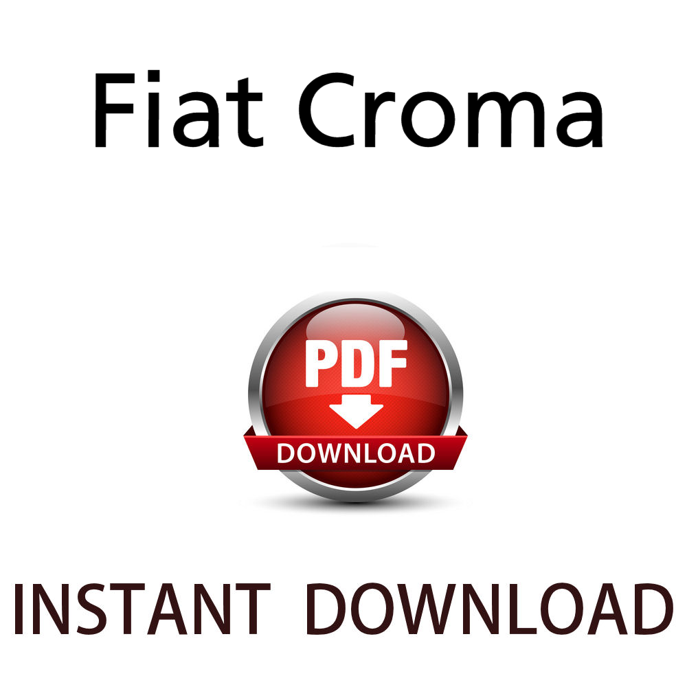 Fiat Croma workshop manual pdf