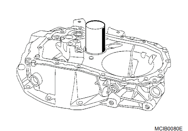 Nissan Note Clutch Housing Bearing Removal and Installation Step 2