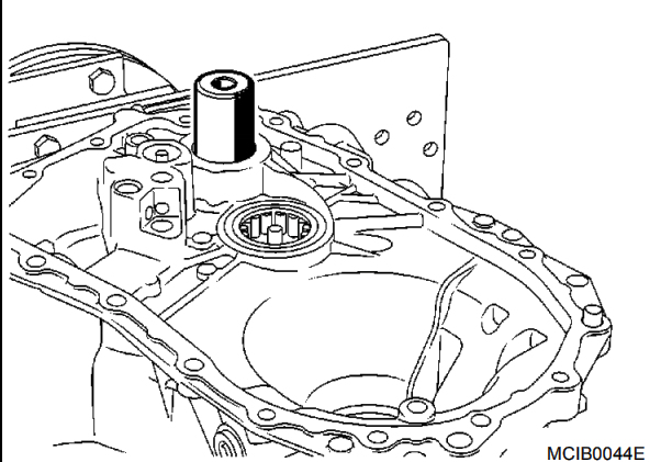 Nissan Note Clutch Housing Bearing Removal and Installation Step 3