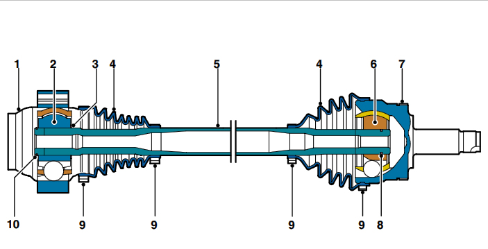 Rear Drive Shaft – Sectional View